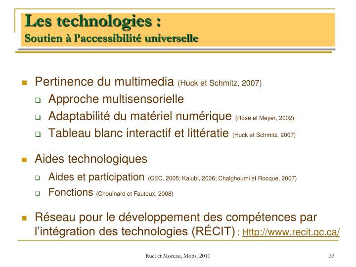Les technologies: