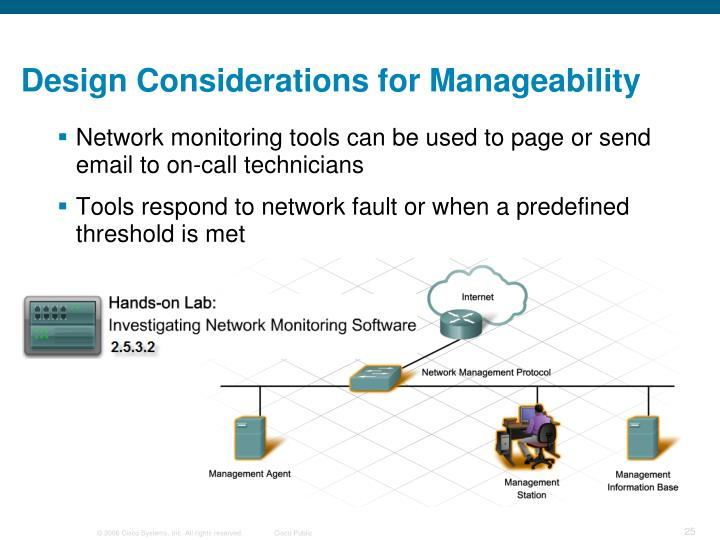 Design Considerations for Manageability