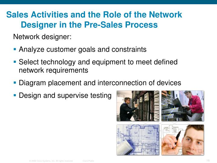 Sales Activities and the Role of the Network Designer in the Pre-Sales Process