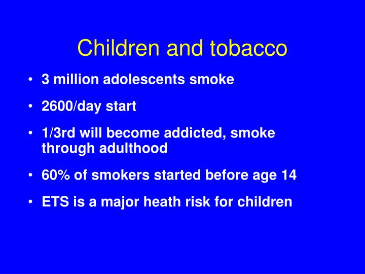 Children and tobacco