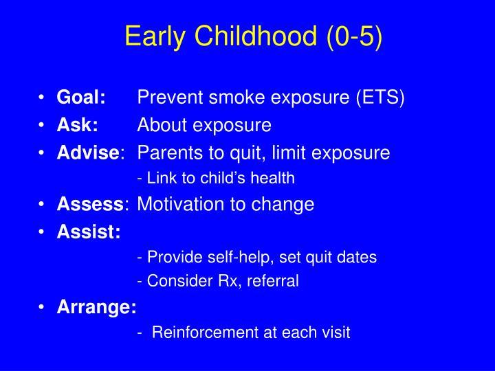 Early Childhood (0-5)
