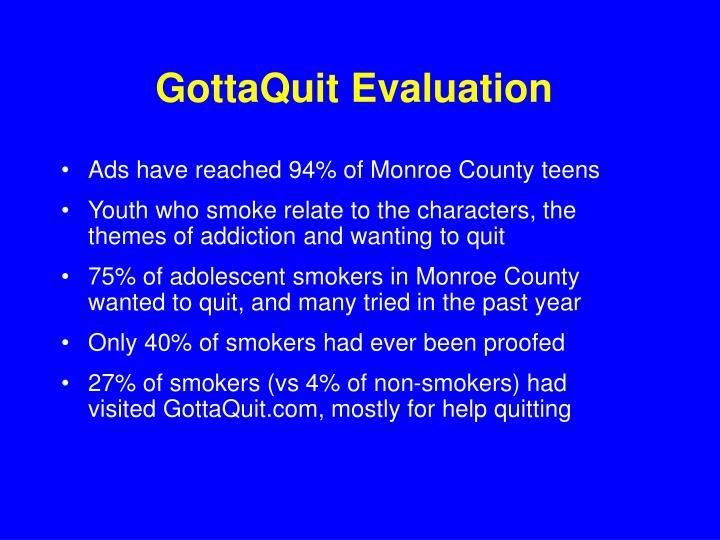 GottaQuit Evaluation