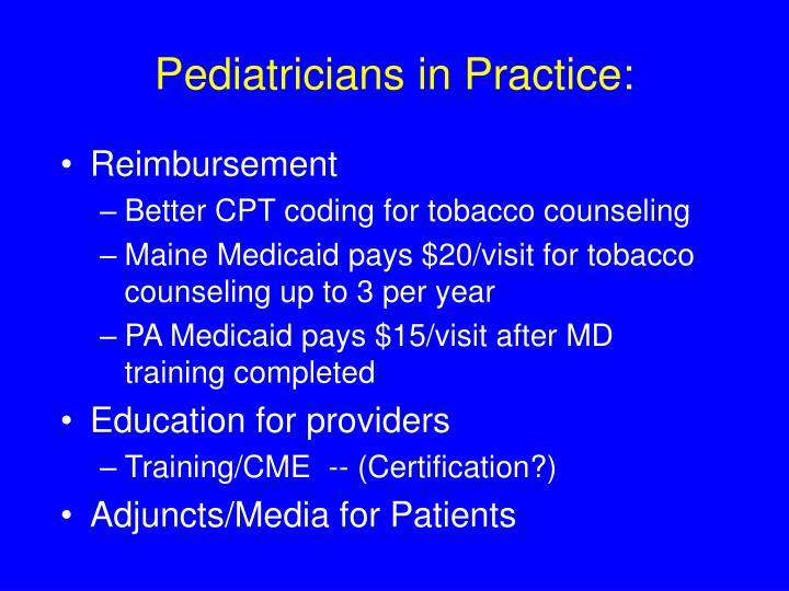 Pediatricians in Practice:
