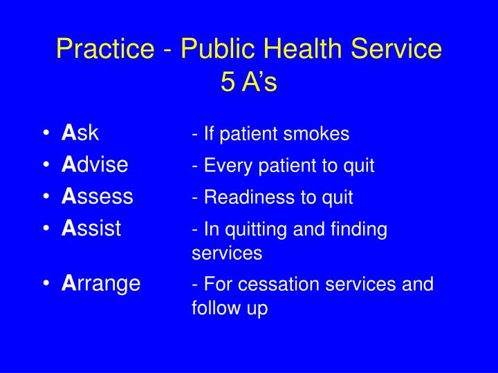 Practice - Public Health Service