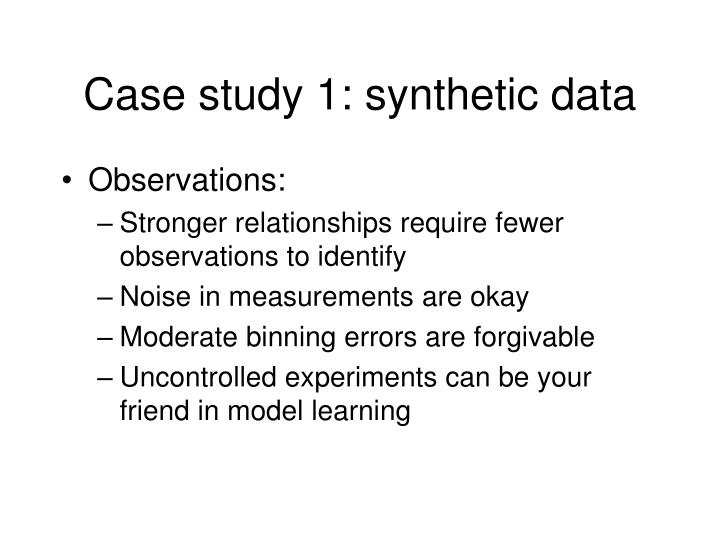 Case study 1: synthetic data