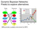 dynamic bayesian networks predict to explore alternatives