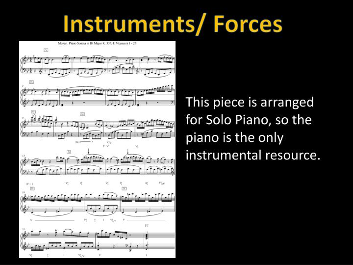 Instruments/ Forces