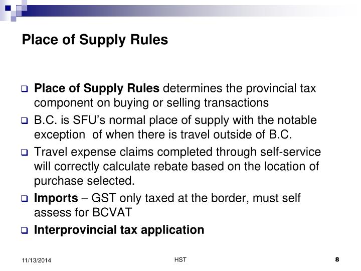 Place of Supply Rules