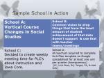 sample school in action