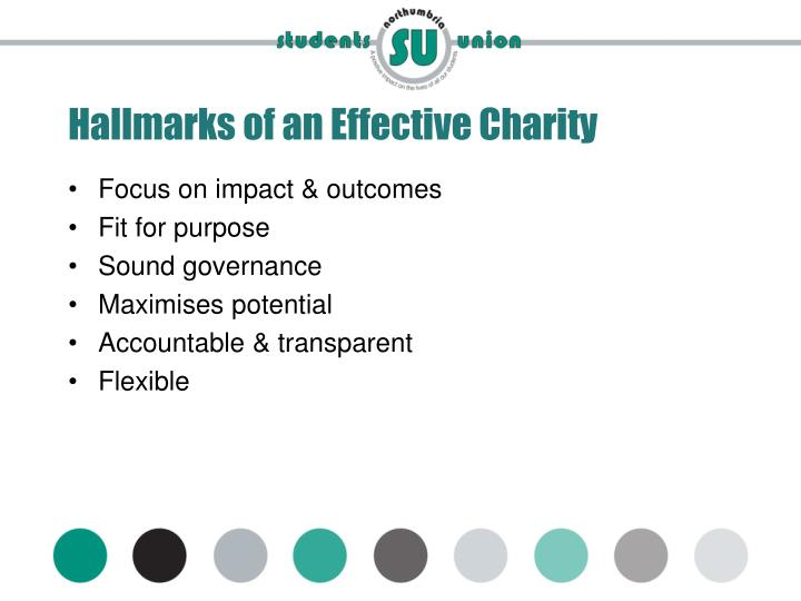 Hallmarks of an Effective Charity