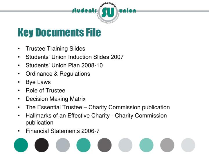 Key Documents File
