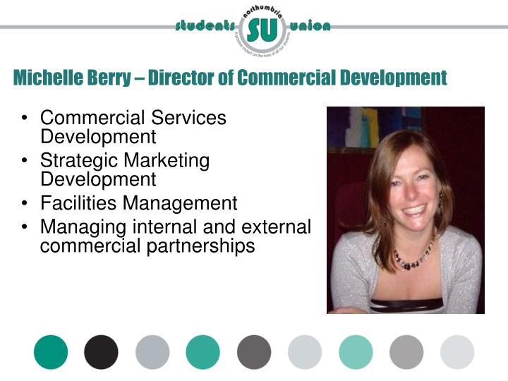 Michelle Berry – Director of Commercial Development