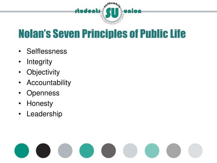 Nolan's Seven Principles of Public Life