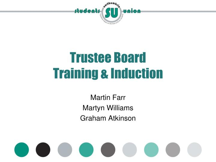 Trustee board training induction