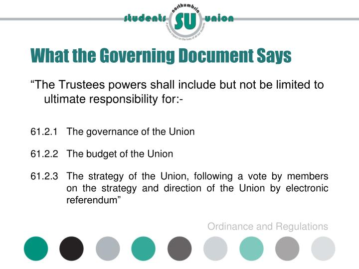 What the Governing Document Says