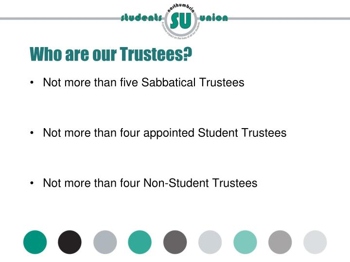 Who are our Trustees?