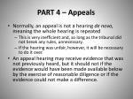 part 4 appeals