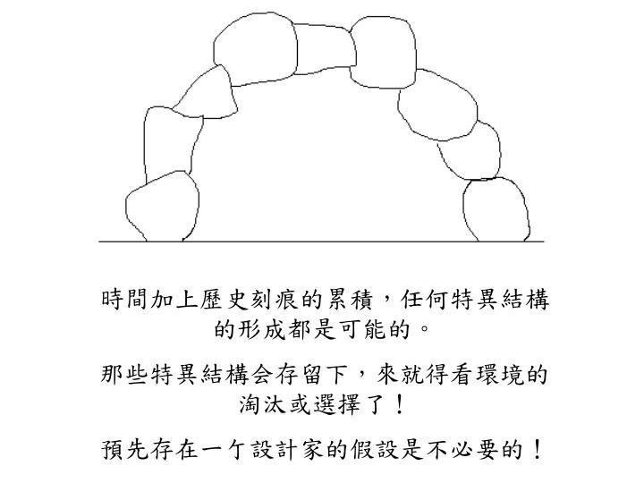 時間加上歷史刻痕的累積,任何特異結構的形成都是可能的。
