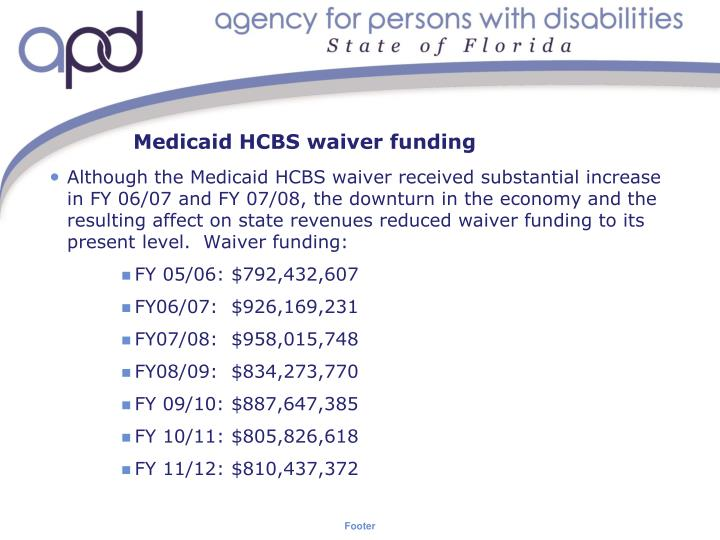 Medicaid hcbs waiver funding
