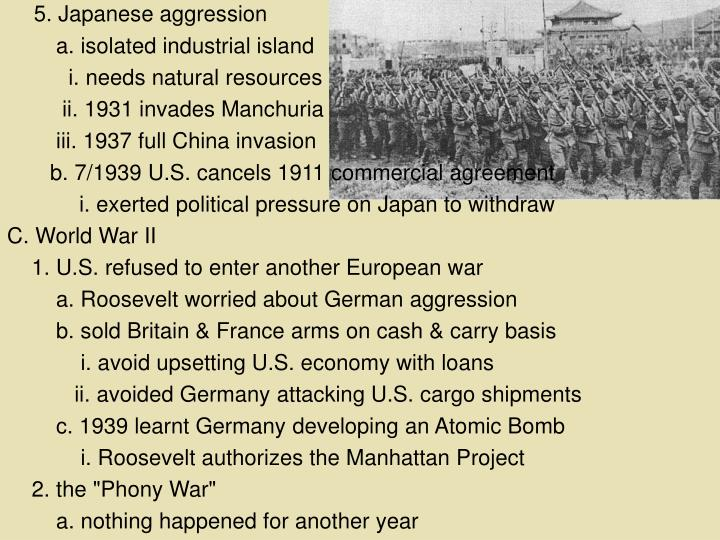 5. Japanese aggression