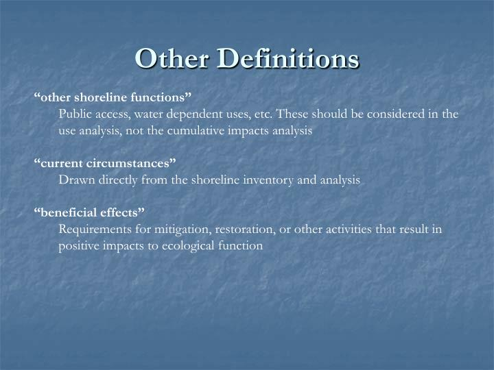 Other Definitions