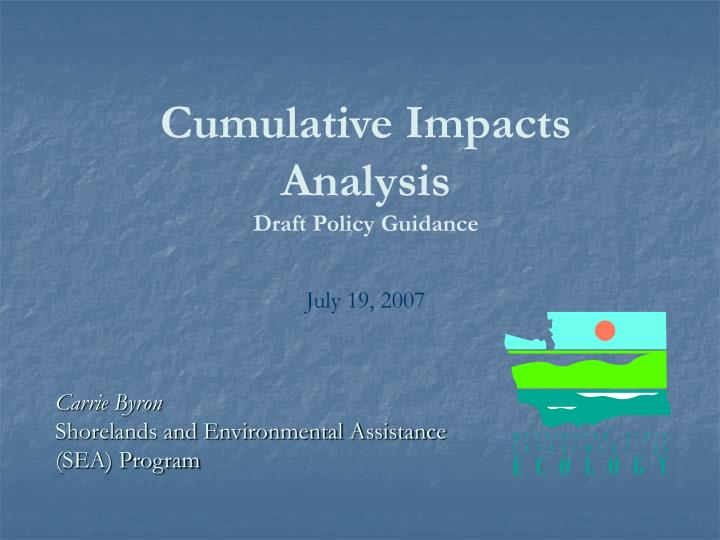 Cumulative Impacts Analysis