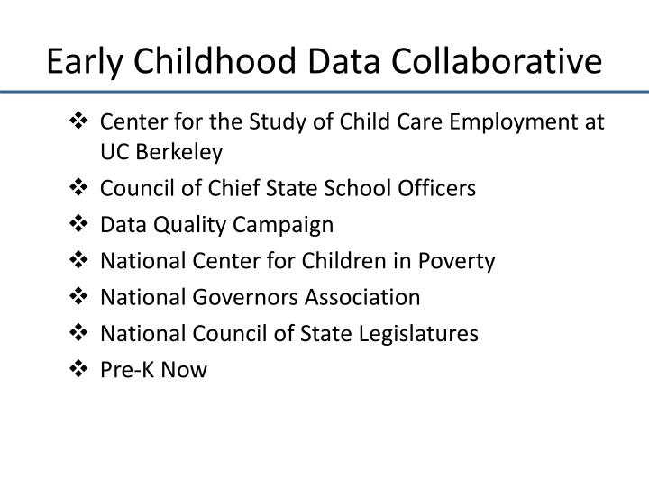 Early childhood data collaborative