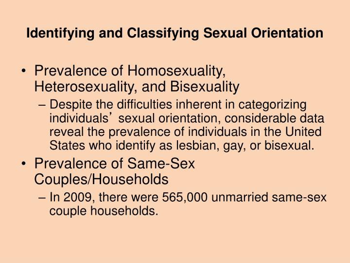 Identifying and Classifying Sexual Orientation