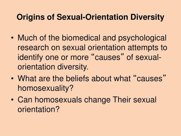 Origins of Sexual-Orientation Diversity