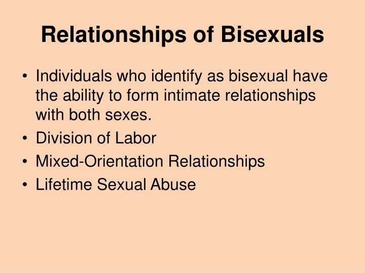 Relationships of Bisexuals