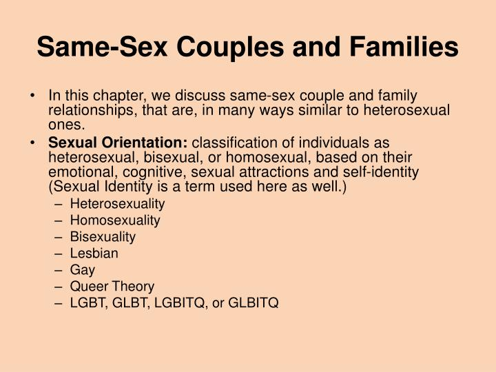 Same-Sex Couples and Families