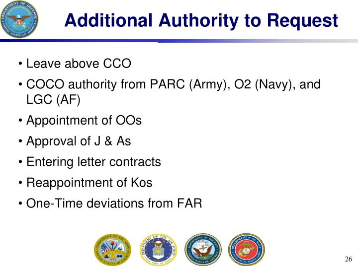 Additional Authority to Request