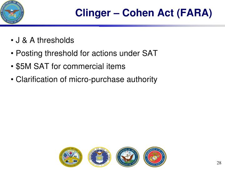 Clinger – Cohen Act (FARA)