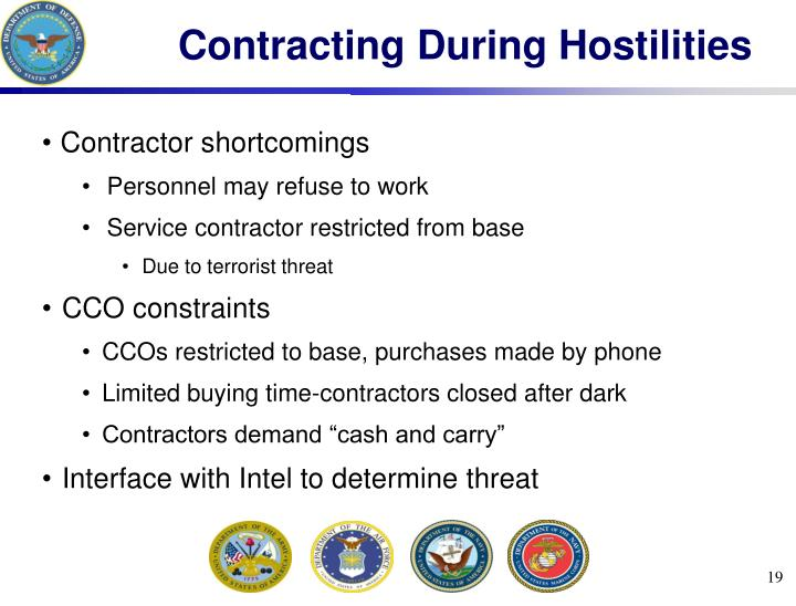 Contracting During Hostilities