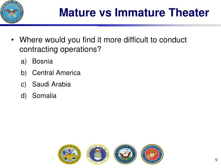 Mature vs Immature Theater