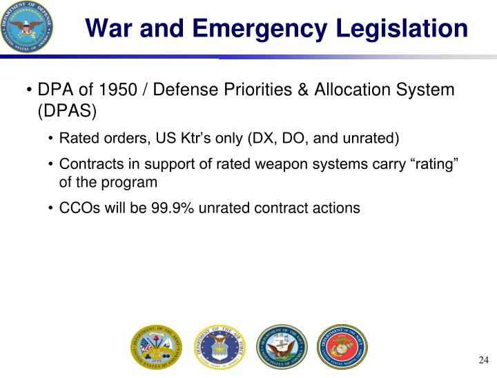 War and Emergency Legislation