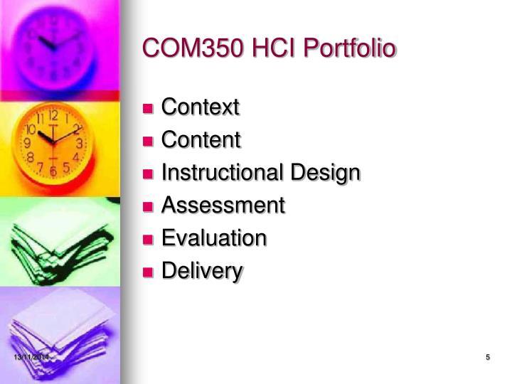 COM350 HCI Portfolio