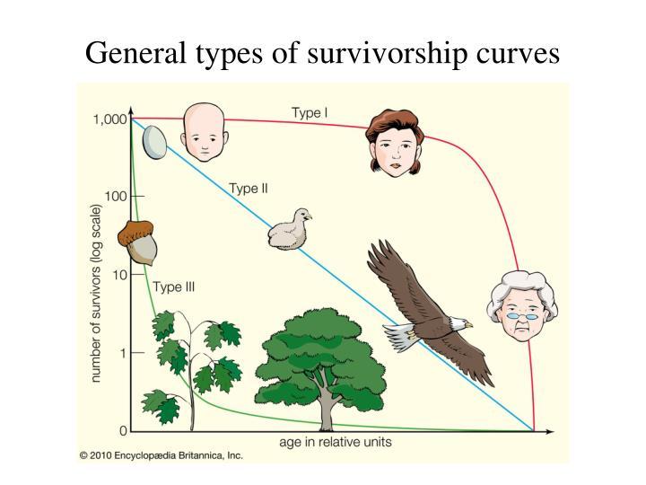 General types of survivorship curves