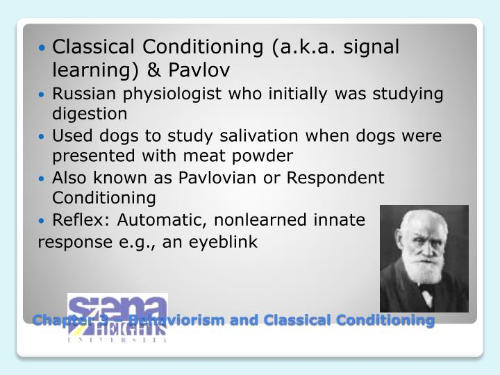 Chapter 3 behaviorism and classical conditioning1
