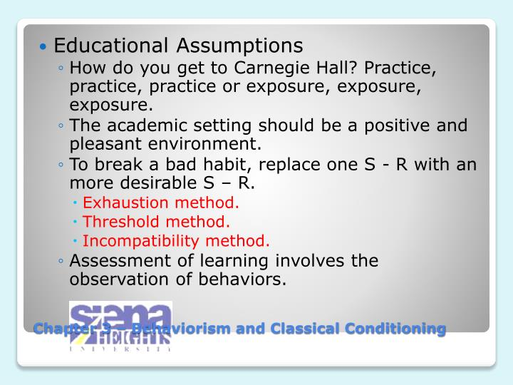 Educational Assumptions