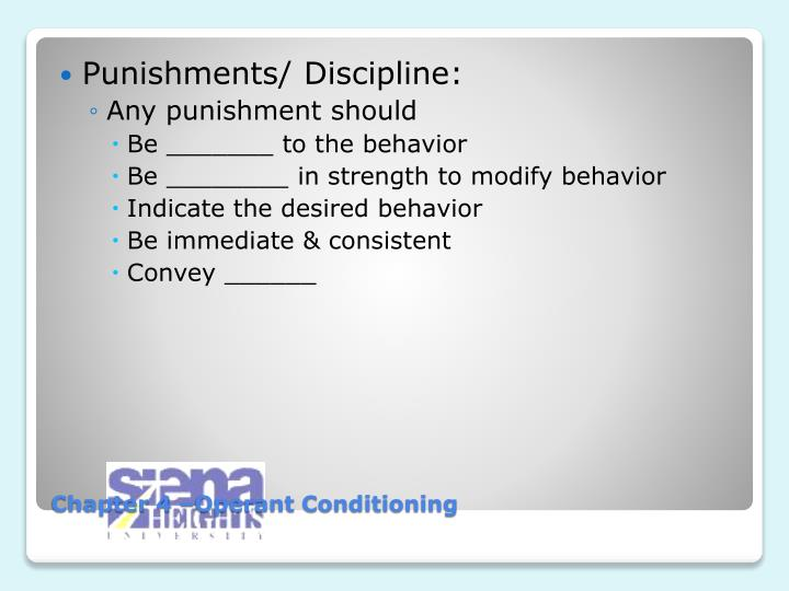 Punishments/ Discipline: