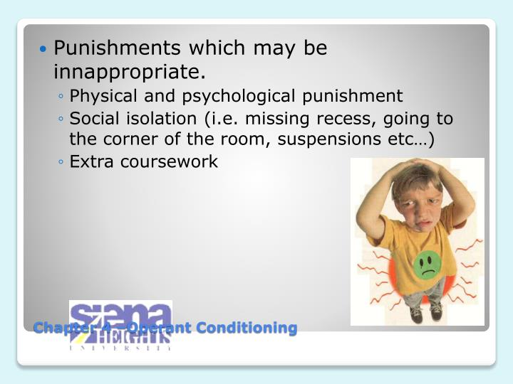 Punishments which may be
