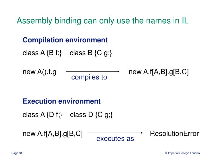 Assembly binding can only use the names in IL