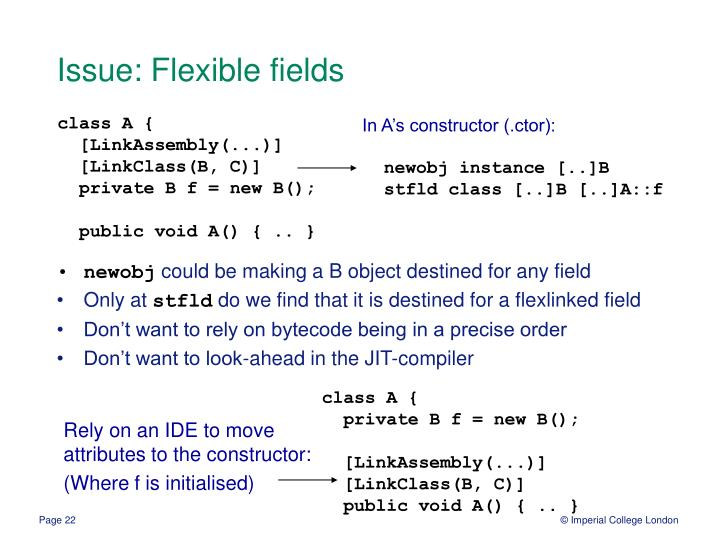 Issue: Flexible fields