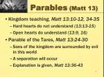 parables matt 13