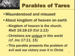 parables of tares