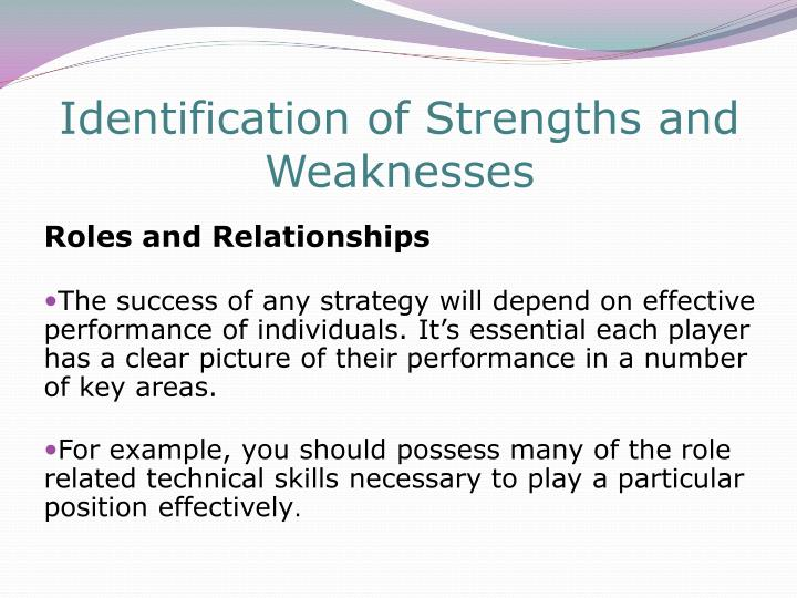Identification of Strengths and Weaknesses