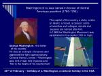 washington d c was named in honour of the first american president 1789 1796