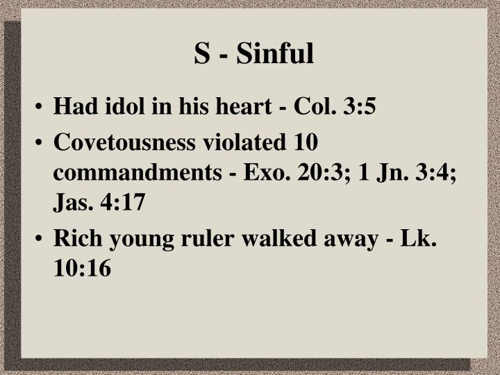 S sinful