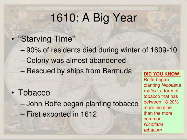 1610: A Big Year
